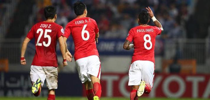 恒大6-0香港东方 末轮打平即出线