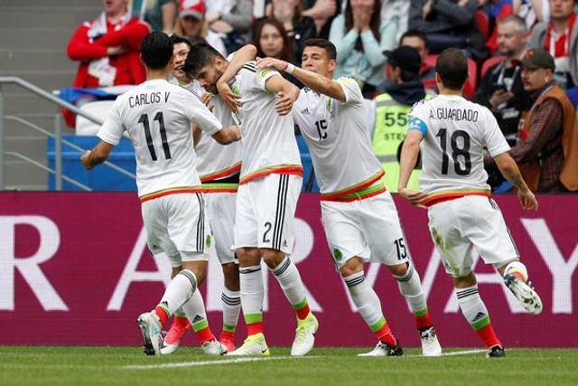 联合会杯:墨西哥2-1俄罗斯