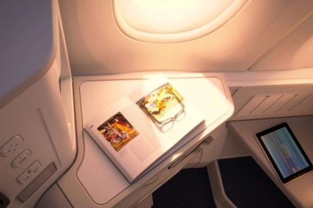 芬航首架A350舱内细节